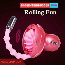 Máy liếm và rung kích thích âm đạo Rolling Fun II